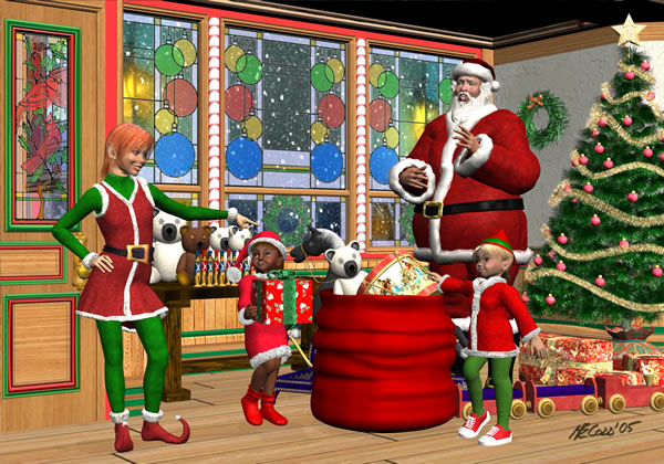Santa and the Elves